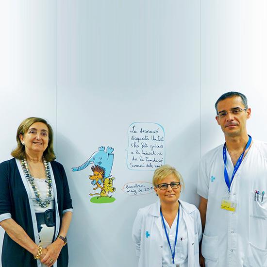 UCI del Hospital Vall d'Hebron estrena decoración