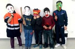 Taller de máscaras en ESTIMIA